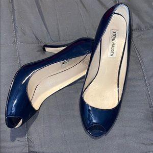 Steve Madden Patent Leather open Toe Heels